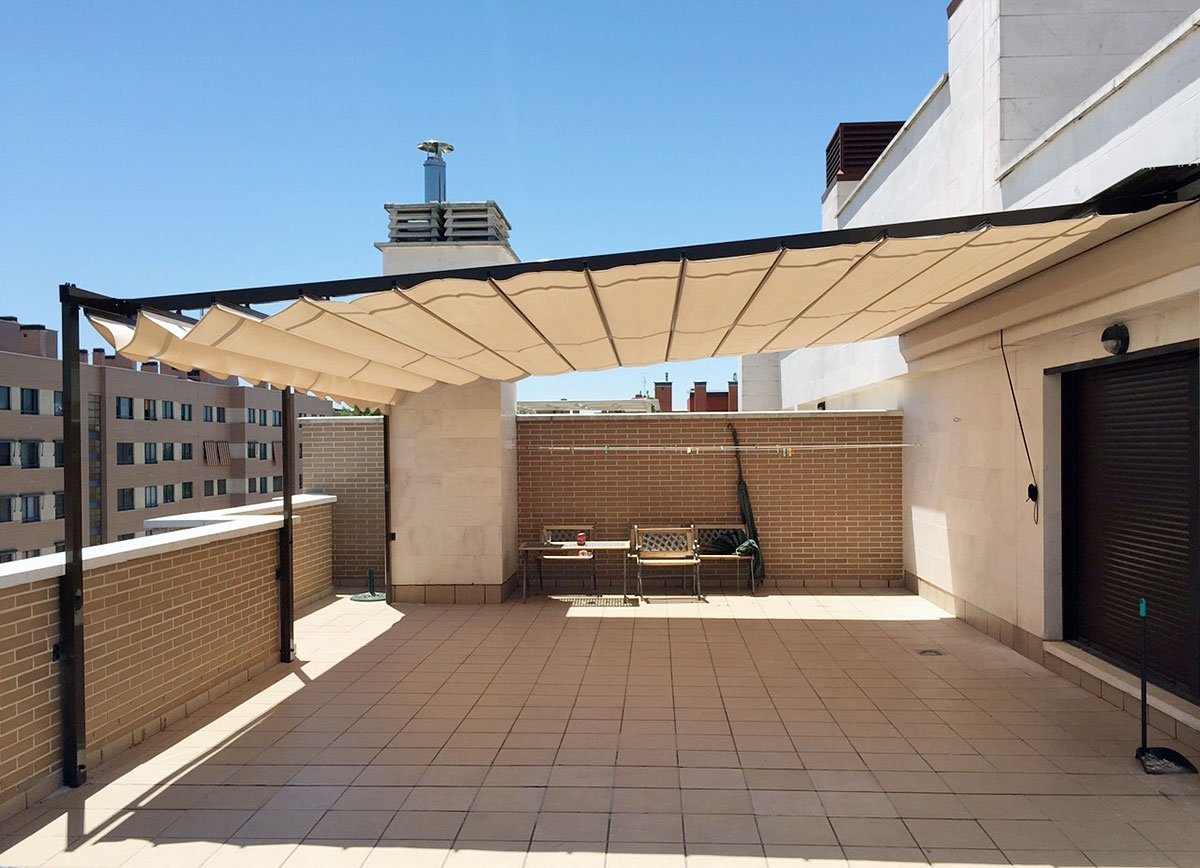 Toldo palillero impermeable persysol soluciones profesionales for Toldos impermeables